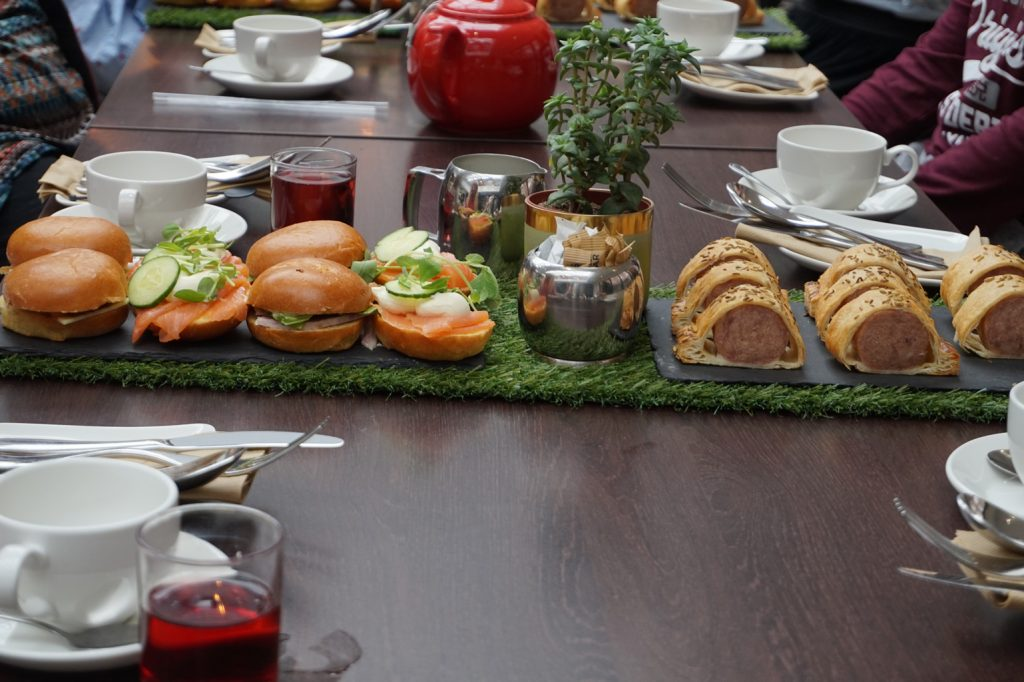 Yorkshire afternoon tea at the doubletree by hilton - sandwiches