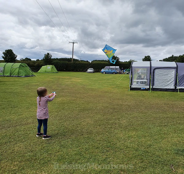 Kite Flying on the campsite